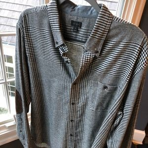 J Crew Button Up with suede elbow patches